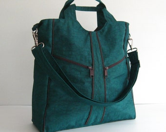 Sale - Dark Teal Water-Resistant Diaper bag - Shoulder bag, Messenger bag, Tote, Travel bag, Women - ALLISON