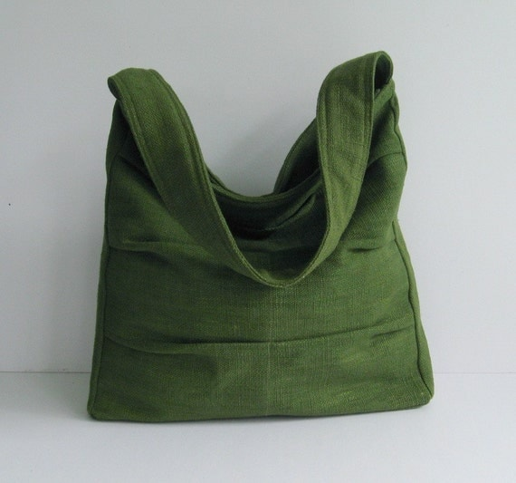 Forest Green Twisted Hemp/Cotton Bag