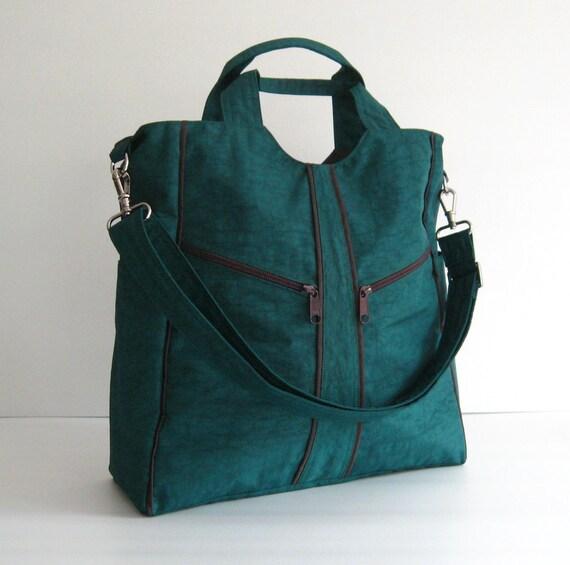 Sale - Dark Teal Water-Resistant Diaper bag - Shoulder bag, Messenger bag, Tote, Travel bag, Women - ALLISON