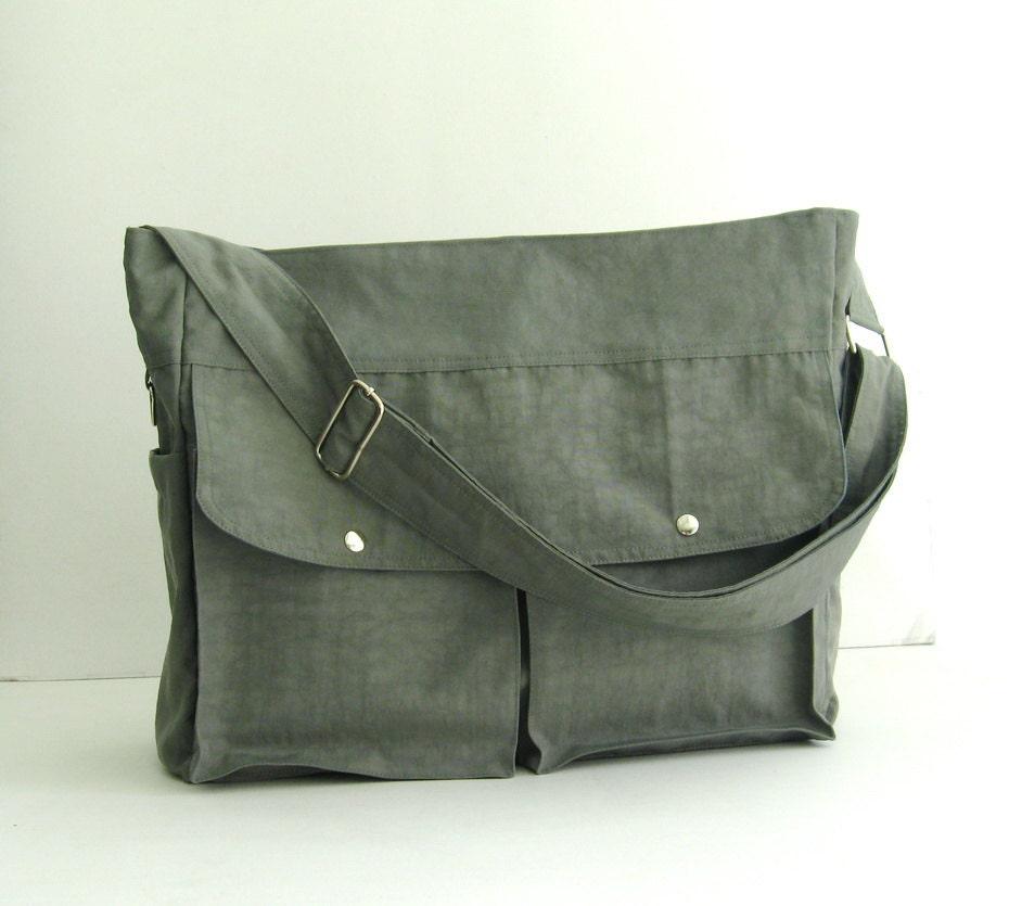 sale grey water resistant nylon diaper bag shoulder bag. Black Bedroom Furniture Sets. Home Design Ideas