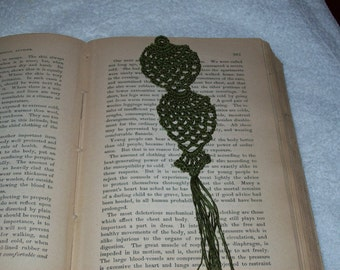 Olive Green Pineapple Bookmark