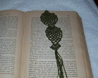 Sale- Olive Green Pineapple Bookmark
