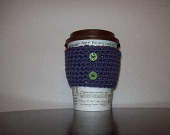 Grape and Green Cup Cozy