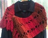 Crochet Wrap with Fringe...pattern for immediate download