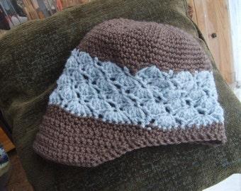 Alaska Newsboy Newsgirl Hat Crochet Pattern