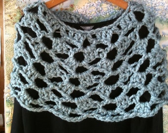 Crochet Shawl Pattern or wear as a scarf or cowl...The Arctic Beauty Stole