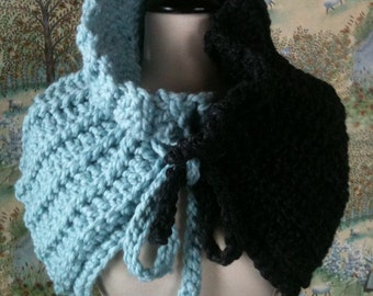 Crochet Cowl pattern or Shawl Yin Yang Super Quick to make