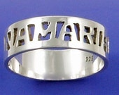 Personalized Sterling Silver Name Ring