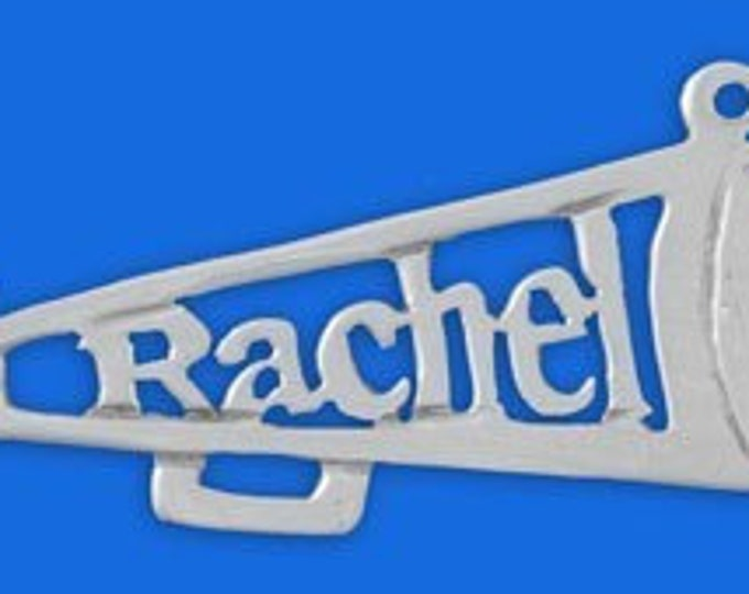 Personalized Sterling Silver School Spirit Name necklace- choose from 3 styles - color guard necklace, majorette necklace