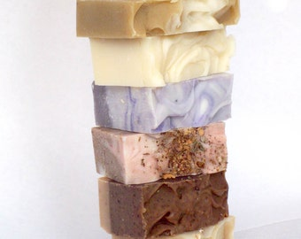 Buy 5 Organic Soaps and get One Free, Etsy handmade bar soap