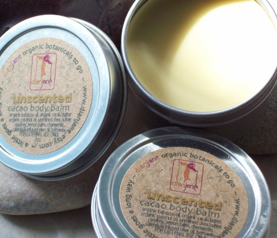 ORGANIC Cacao Butter Balm Natural Herbal Infused Oil Fragrance Free-Home and Living-Bath and Body Cream
