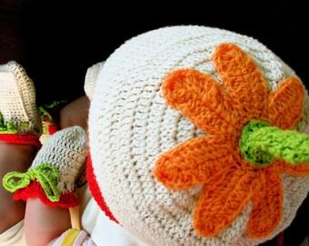 Wild Flowers Organic Cotton - 3 pieces Crochet Accessories Set