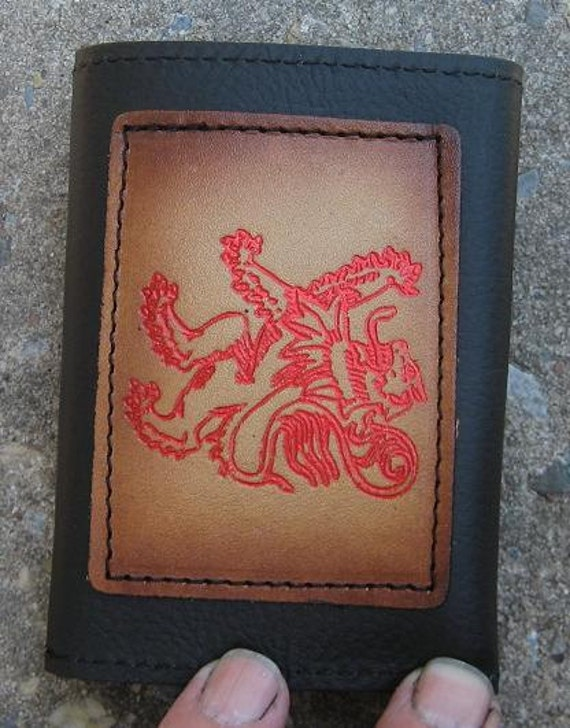 Tri-fold wallet with Scottish Lion