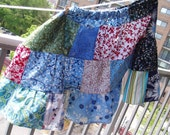 Spring-Flared Patchwork Skirt - size 22 to 26