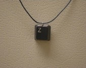 Single Initial or Symbol Keyboard Key Necklace - Customizable