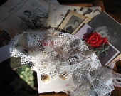 Vintage Ephemera Book Kit-Scrapbooking-Journaling-Vintage Lace and Trim-Buttons-Dictionary Pages-FREE SHIPPING