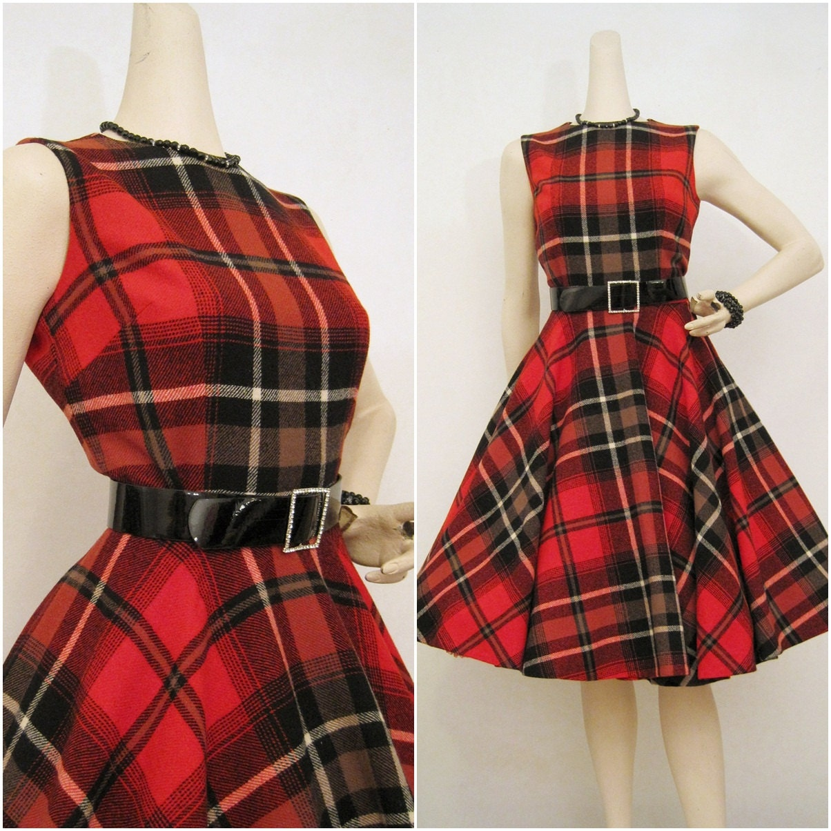 50s 60s Pendleton Vintage Suit Circle Skirt Amp Shell Top Outfit