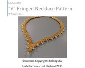 V Fringed Necklace PDF Bead Weaving Pattern tutorial