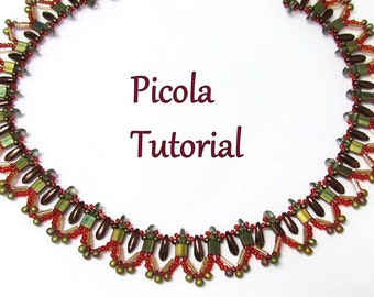 PICOLA Necklace Exclusively PDF Necklace Bead weaving tutorial for personal use only