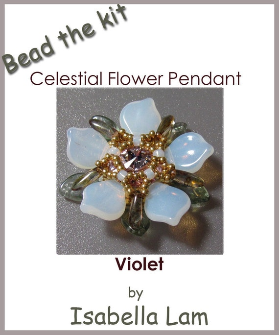 Buy The KIT - Celestial Flower pendant Violet (Instruction and Materials)