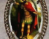 Saint Expedite  Frame Pendant
