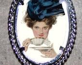 Victorian Tea Party Frame Pendant