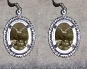 Albatross Oval Frame Earrings