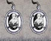 Saint Bernadatte Oval Frame Earrings