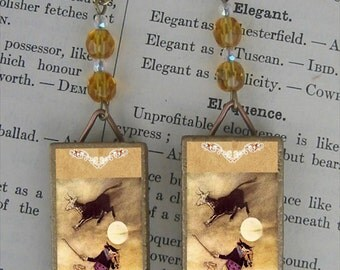 Cow jumped over the Moon by Rackham Earrings