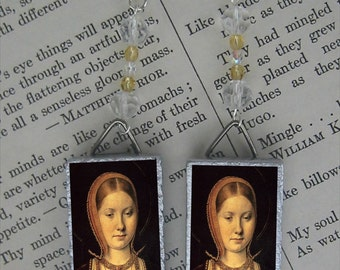 Tudor Queen CATHERINE OF ARAGON English History BEADED EARRINGS