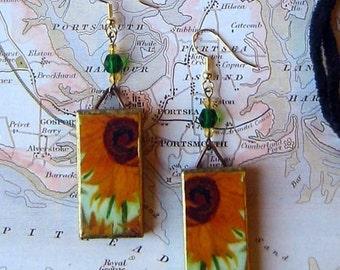 VAN GOGH Sunflowers EARRINGS