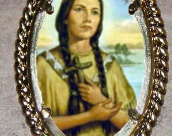 Blessed Kateri Tekakwitha Frame Pendant