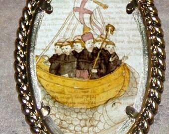 Saint Brendan of Ireland Frame Pendant