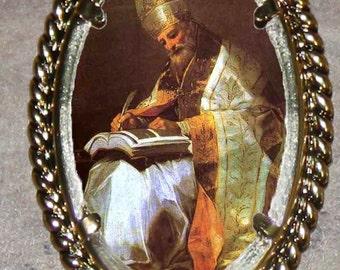 Saint  Gregory Frame Pendant