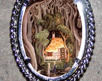 Hansel and Gretel find the Witch Cottage Pendant