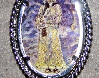 Snow Queen by Vrubel Frame Pendant
