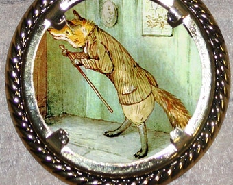 Mr Tod the Red Fox Frame Pendant