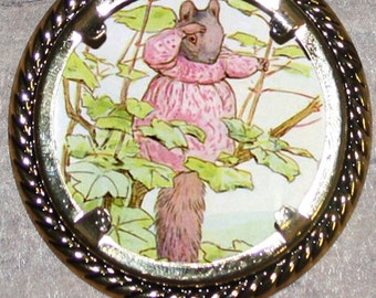 Brown Squirrel Frame Pendant