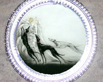 Coursing II by Louis Icart Frame Pendant