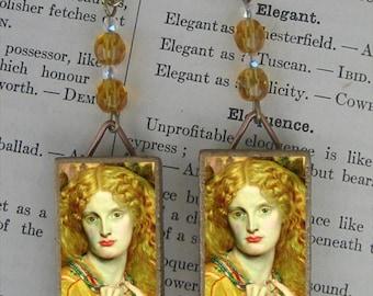 Helen of Troy beaded earrings