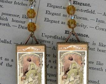 Medieval shoe Princess Earrings