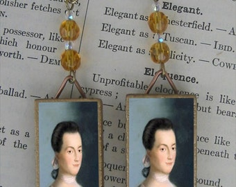 Abigail Adams beaded Earrings