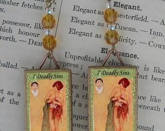 7 Deadly Sins - GREED beaded earrings