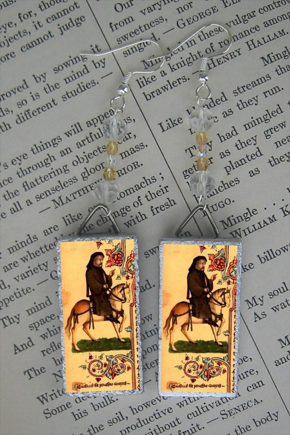 CANTERBURY TALES Chaucer beaded earrings