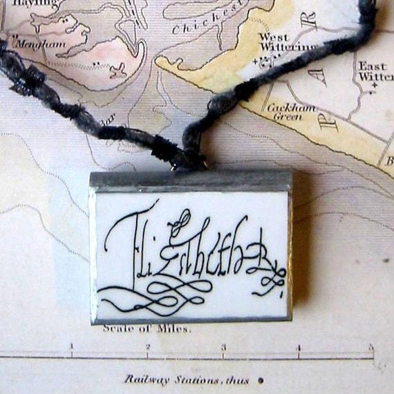 Signature of tudor queen elizabeth i beaded by calliopeswork for Tudor signatures