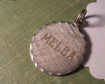 melba monogrammed dated 1970s sterling silver pendant charm