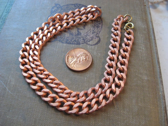 9 vintage NOS complete copper necklace with clasp lot
