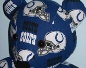 Teddy Bear Colts Indianapolis Football Indiana NFL Horseshoe Helmet