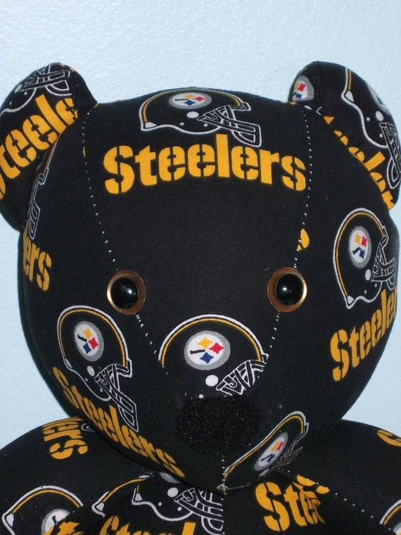 Teddy Bear Steelers Pittsburgh NFL Football Gridiron Sports Team Mascot Steel Town