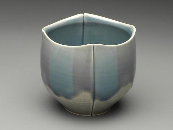 Wide Blue Stripe Teabowl